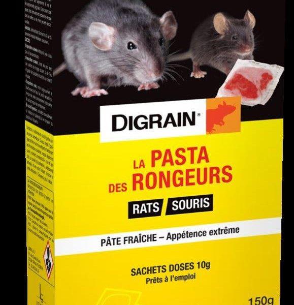 La pasta des rongeurs appât frais Digrain 150g de pâte en sachet dose 10g