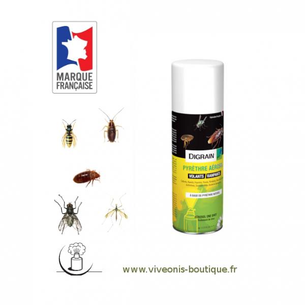 Aérosol Insecticide Digrain Pyrèthre 200ml