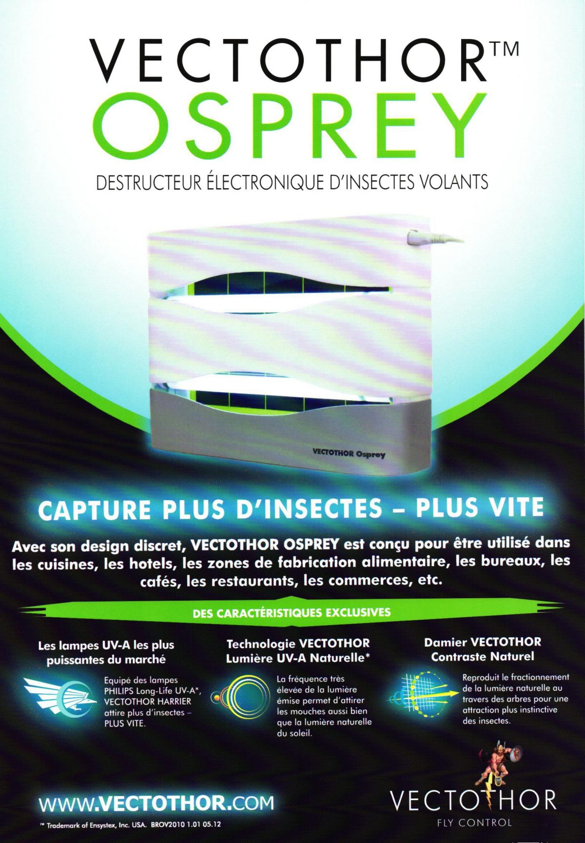 Destructeur Electronique d'Insectes Volants OSPREY 30 Watt
