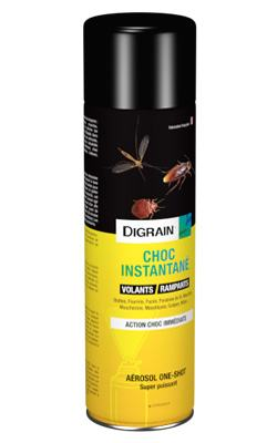 Insecticide CHOC INSTANTANE Digrain aérosol 125ml ou 400ml