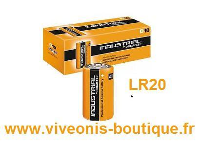 Pile Alcaline LR 20 D 1.5V