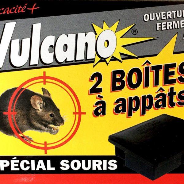 Deux boîtes à appâts spécial souris sécurisées face 1