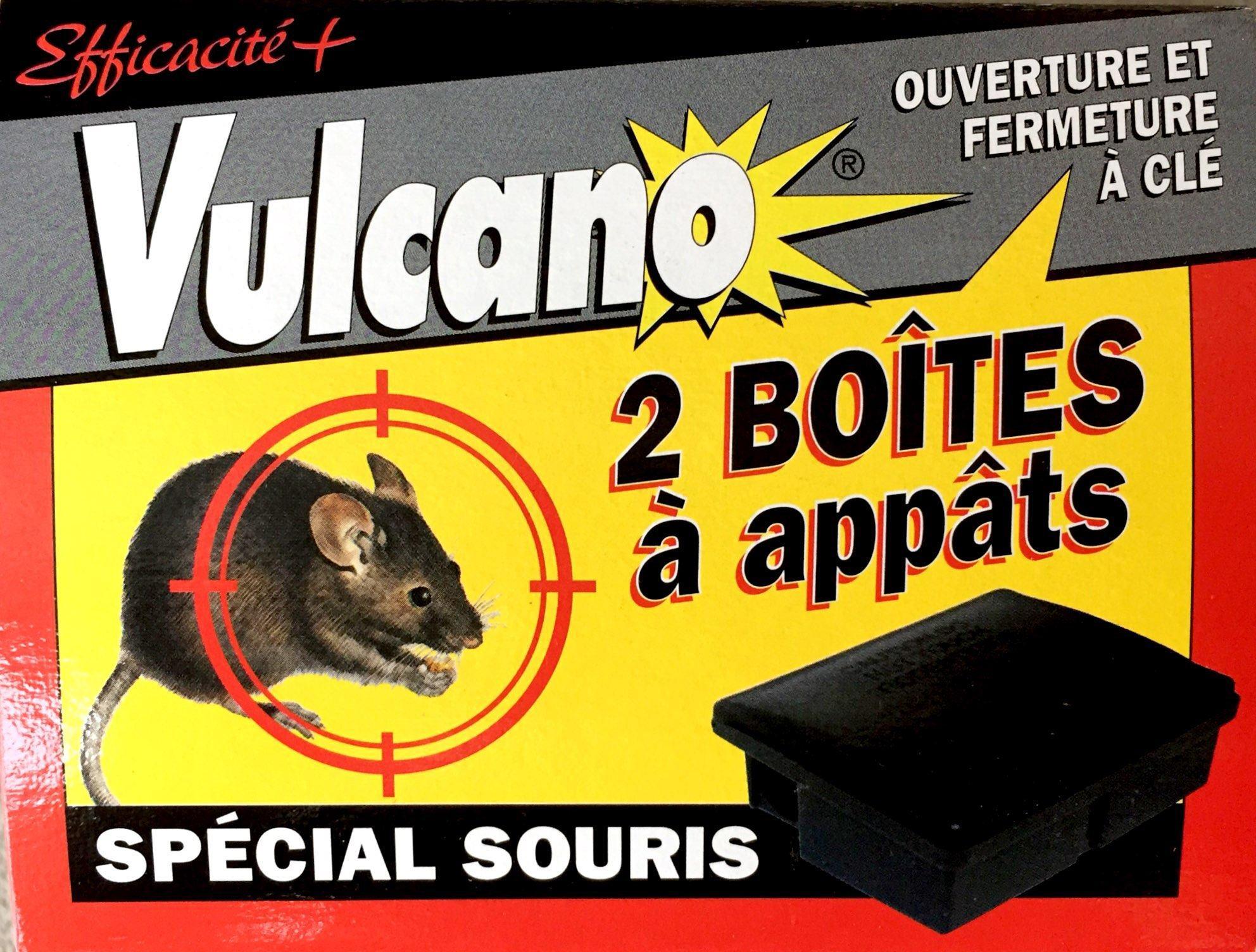 Postes à appat spécial SOURIS sécurisés Lot de 10 Vulcano