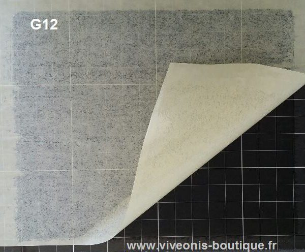 Plaque glue noire cartonnée pour DIV G12 L 390mm X l 296mm X E 3mm