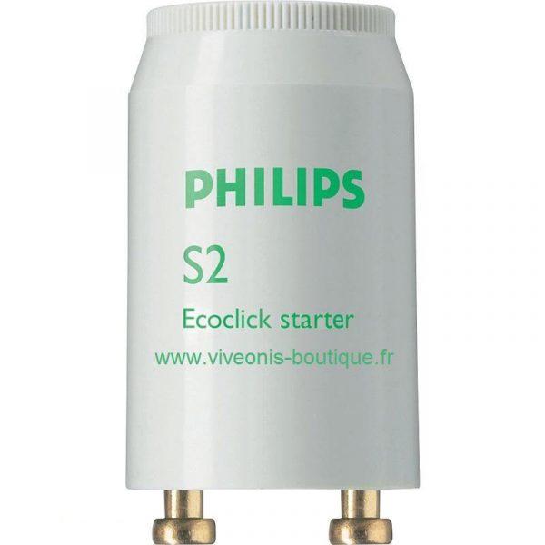 starter S2 Philips pour TL(-D) lamps