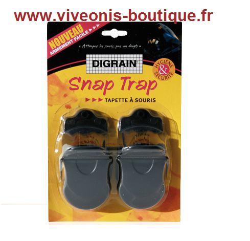Snap Trap Digrain tapette à souris en plastique