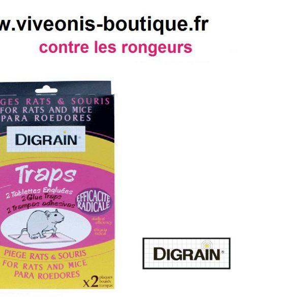 Tablettes engluées Digrain TRAPS pour pièger rats et souris