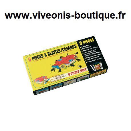 Piège à glu Cafard Sticky Box® anti-cafards lot de 5