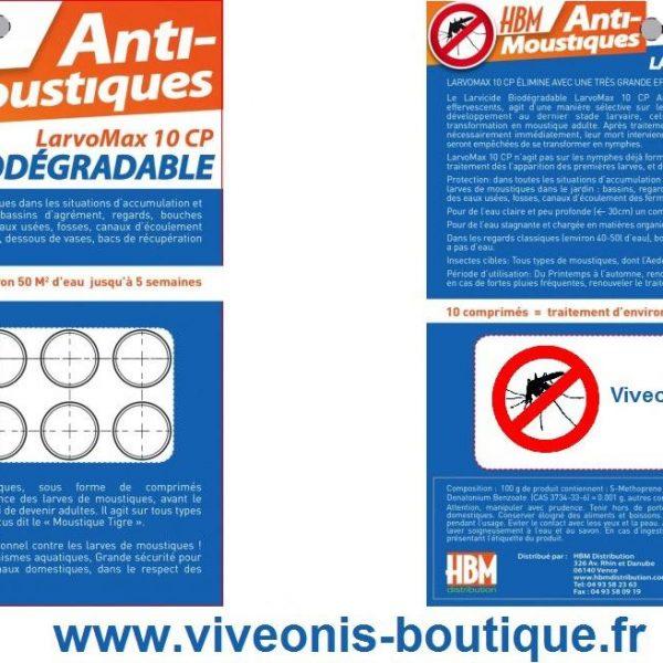 Larvicide Biodégradable LarvoMax 10CP Anti-Moustiques