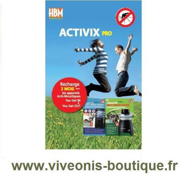 Activix Pro recharge 2 mois pour appareil anti-moustiques