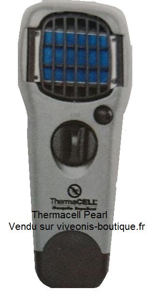 Diffuseur Portable Anti-Moustiques ThermaCELL couleur Perle Pearl vendu sur viveonis-boutique.fr
