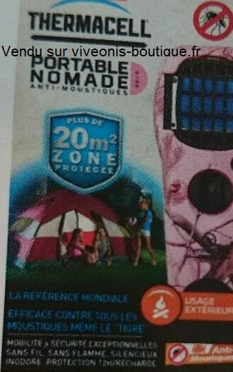 Emballage du Diffuseur Portable Anti-Moustiques ThermaCELL nomade rose Pink vendu sur viveonis-boutique.fr