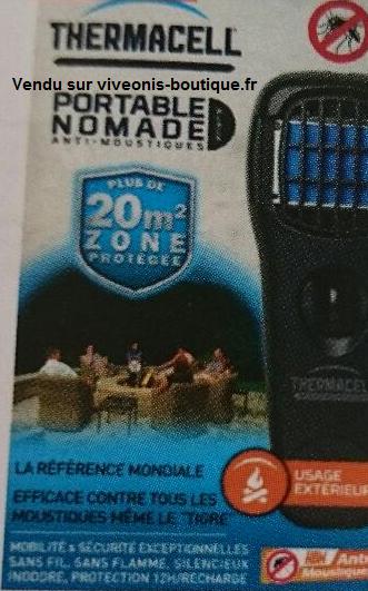 Emballage Diffuseur Portable Anti-Moustiques ThermaCELL nomade Noir Black vendu sur viveonis-boutique.fr