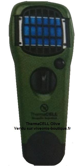 Diffuseur Portable Anti-Moustiques ThermaCELL nomade Olive Green vendu sur viveonis-boutique.fr