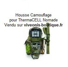 Housse-Holster camouflage pour portable Nomade Anti-Moustiques ThermaCELL vendu sur viveonis