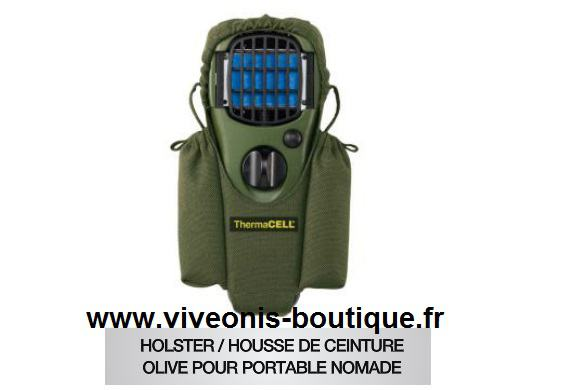 Housse-Holster pour portable Nomade Anti-Moustiques Thermacell OLIVE