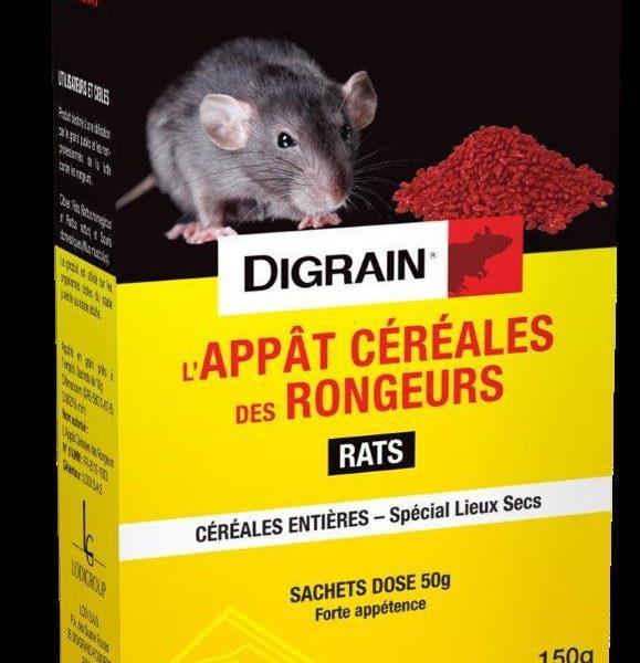 Céréales des rongeurs en grain entier Digrain Spécial rats 150g