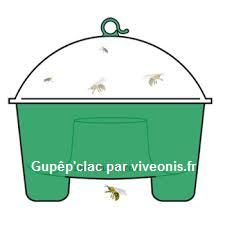 Schéma du piège à guêpes Guêp'Clac Protecta