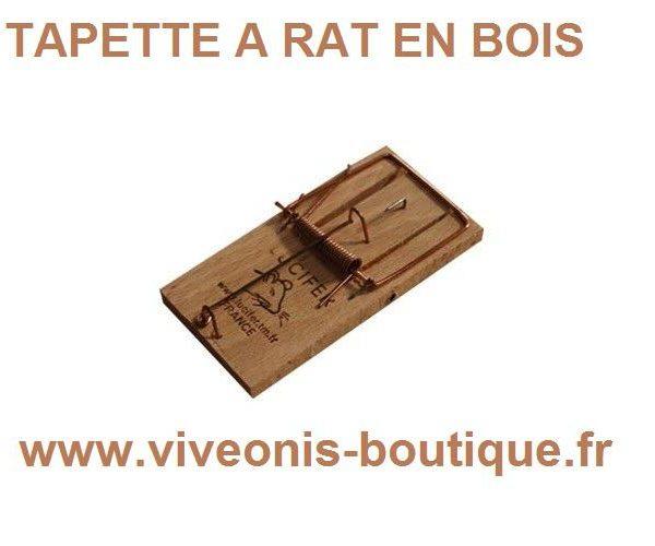 PIEGE A RAT - TAPETTE en BOIS