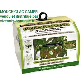 Kit Mouch'clac camer Piege à papillons avec 2 capsules de phéromone