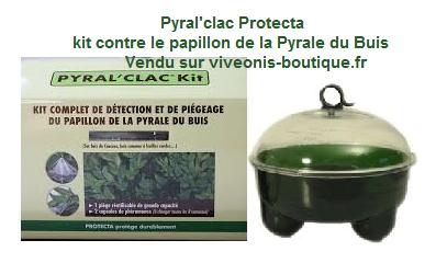 Pyral'clac Protecta Kit complet vendu par viveonis pour lutter contre le papillon de la pyrale du buis