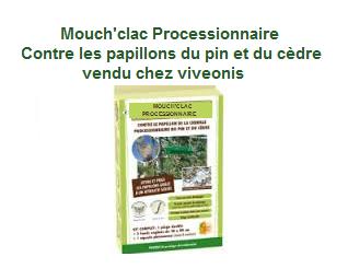 Mouch'clac Processionnaire Protecta Kit viveonis pour exterminer le papillon de la chenille processionnaire du pin et du cèdre