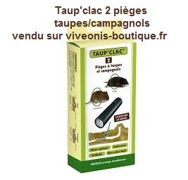Taup'clac 2 pièges à taupes et campagnols Protecta distribué par viveonis
