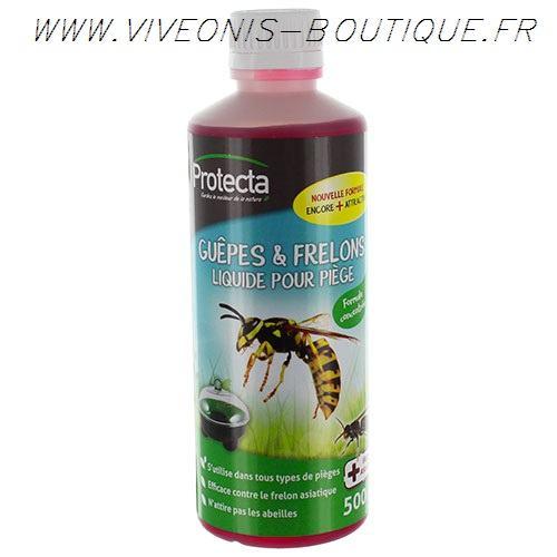 ATTRACTIF guep clac liquide pour piège à Guêpes-frelons-mouches 500ml