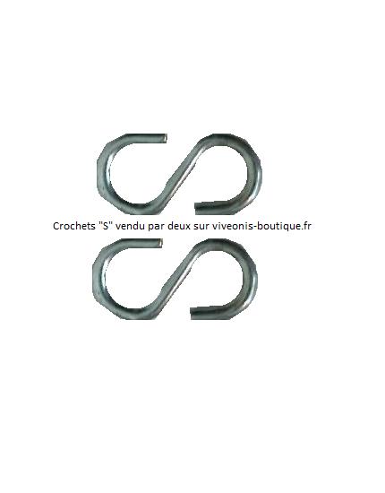 Crochets S x2 pour suspendre sac ECOpiège de chenilles processionnaires