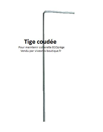 Tige métale coudée pour maintenir collerette ECOpiège de chenilles processionnaires