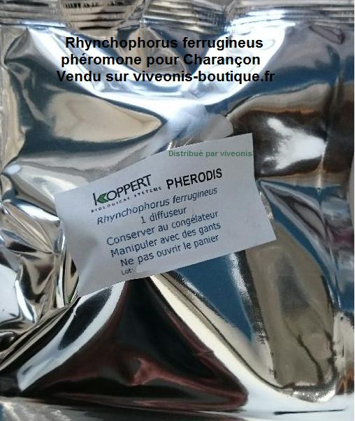 Photo emballage de Phéromone contre le Charançon rouge Rhynchophorus ferrugineus