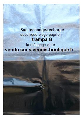 Photo du Sac recharge ou rechange pour piège Trampa G La mésange verte vendu sur viveonis-boutique.fr
