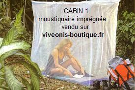 Mis en situation d'une Moustiquaire imprégnée longue durée CABIN 1pers Pharmavoyage vendu sur viveonis