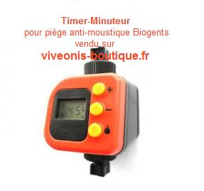 Timer minuteur pour mosquitaire Biogents® vendu sur viveonis-boutique.fr