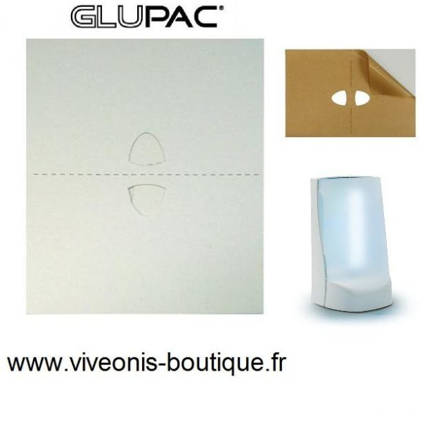 Flypod GLUPAC® plaque glue blanche 165mm X 220mm Pelsis