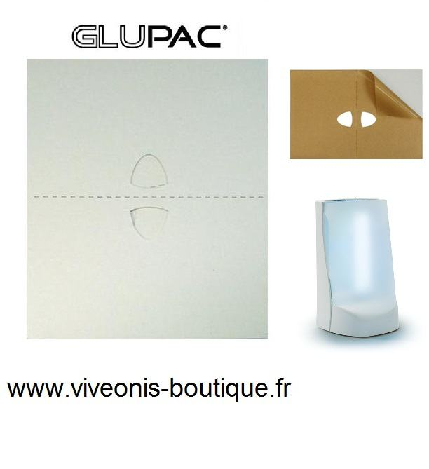 Flypod GLUPAC® plaque glue blanche 165mm X 220mm Pelsis
