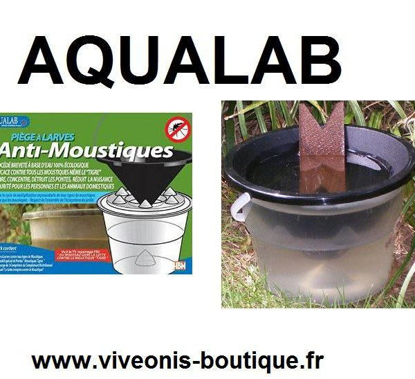 AQUALAB® Piege à Larves anti-moustique Aedes Control Project