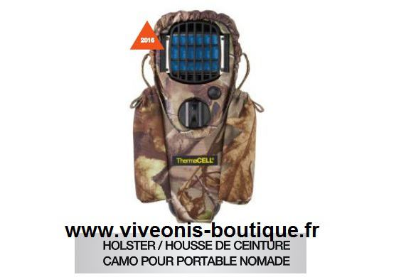 Housse-Holster pour portable Nomade Anti-Moustiques Thermacell CAMO