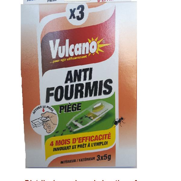 3 Pièges anti-fourmis prêt à l'emploi Vulcano