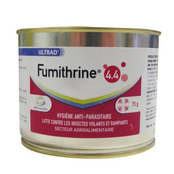 Fumigène FUMITHRINE® 4.4 anti-parasitaire de 100m3 à 2000m3 selon conditionnement cannette auto-vidante Ultrad