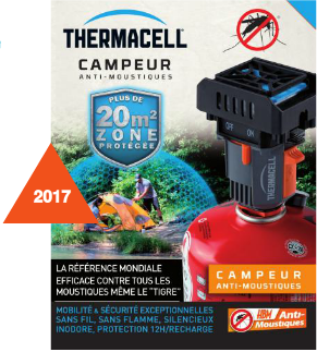 Campeur anti-moustiques Thermacell avec recharge 12H