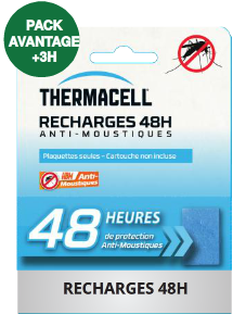 Recharge Thermacell 48h anti-moustiques pour campeur
